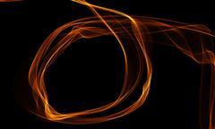 Colored Light Energy Streak on Black Background Stock Illustration