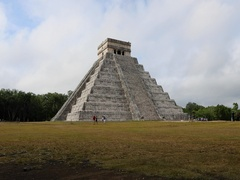 Chichen Itza historic El Castillo pyramid Mexico DCI 4K Stock Footage
