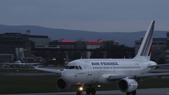Airplane passing - Air France Stock Footage