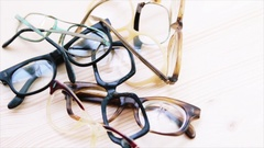 Old broken glasses Stock Footage