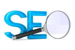 Search Engines Optimization. Isolated 3D image Stock Illustration