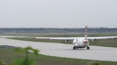 Propeller Plane on Runway Stock Footage