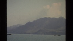 1984: view of a very large body of water with buildings surrounding it HONG KONG Stock Footage