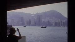 1984: a large area full of water covered with buildings on its sides ZHONGSHAN Stock Footage