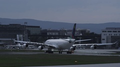 Aircraft on Airport in 4k Stock Footage
