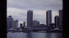 1984: urban city largest buildings SINGAPORE Stock Footage