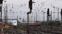 Fast Train approaching Stock Footage