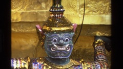 1984: elaborate characters that are emblems THAILAND Stock Footage