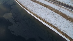 The sapphire blue water spreaded like dessert by the road side COLORADO Stock Footage