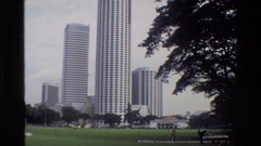1984: structure of the tallest building SINGAPORE Stock Footage