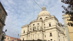 Church of Santa Engracia, Lisbon National Pantheon In Portugal Stock Footage