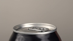 The girl opens a beer can Stock Footage