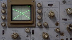 Oscillograph (calibration, brightness, Synchronisation) Stock Footage