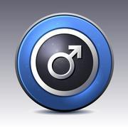 Male gender symbol Stock Illustration