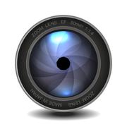Camera photo lens with shutter. Piirros
