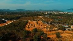 Aerial: Motocross track. Stock Footage