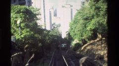 1984: riding in the train HONG KONG Stock Footage