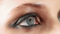 Woman eye with evening makeup Stock Footage