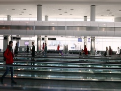 Denver International Airport passengers walking DCI 4K Stock Footage