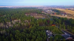 The house, a plot of land in the forest Stock Footage