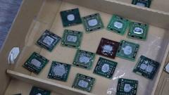 Damaged processors Stock Footage
