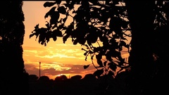 Rome Countryside, Autumn Sunset Timelapse Stock Footage