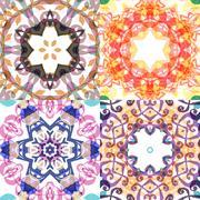 Gorgeous seamless patchwork patterns Stock Illustration