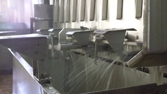 Equipment at dairy processing plant Stock Footage