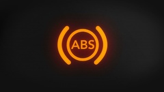ABS Brake Light Blinking on and off Stock Footage