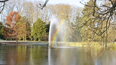 Morning rainbow in France Stock Footage