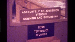 1975: video of a hospital sign and room with beds CALIFORNIA Stock Footage