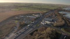 Motorway Service Station Stock Footage
