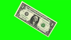 Single Dollar Bill Crush to Ball Loop Stock Footage