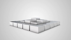 Spinning Cube Rising Pyramid with Ladders Stock Footage