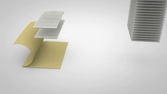 Stacks of Paper Rise and Place Neat in File Stock Footage