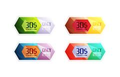 Vector special offer stickers and banners Stock Illustration
