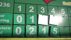 The scoreboard at a little league baseball game. Stock Footage