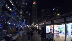 Annual Christkindl Market on 16th Street Mall. Stock Footage