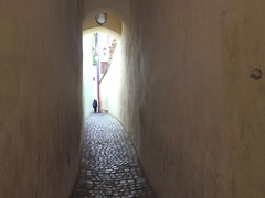 Rope Street the narrowest street in Transylvania's Brasov 4k UHD. Stock Footage