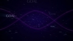 GOAL Text Animation Explosion, Rendering, Background, with Final Explosion and G Stock Footage