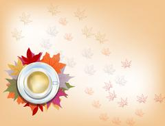 Autumn cup of cofee Stock Illustration