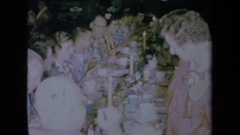 1961: marriage reception dinner CALIFORNIA Stock Footage