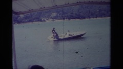 1977: living by boating LAKE ELSINORE CALIFORNIA Stock Footage