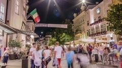 Merano City Festival 2015 time lapse Stock Footage