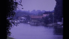 1969: riverside terrace LONDON ENGLAND Stock Footage