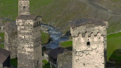 Medieval tower built for defensive purposes Stock Footage