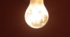 Flickering light bulb Stock Footage