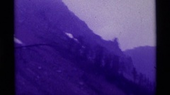 1975: the dark range of hills AGATE SPRINGS MONTANA Stock Footage