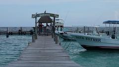 Mexico marina yacht club pier ocean HD slow Stock Footage