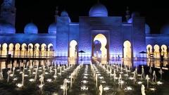 Grand Mosque in Abu Dhabi, UAE Stock Footage